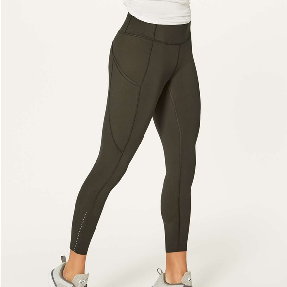 52692dc067a21 lululemon athletica Pants | Lululemon Fast Free 78 Tight Dark Olive ...